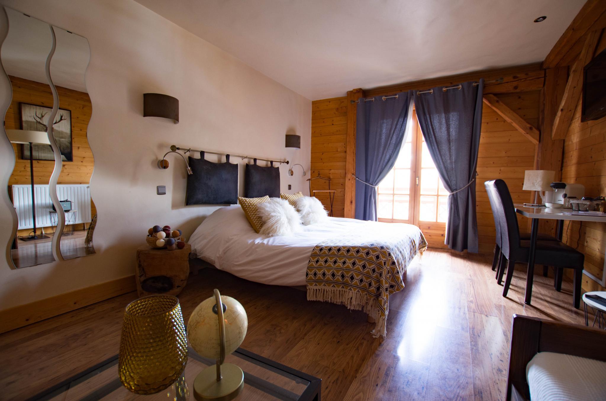 Hotel de Cupelin à Saint-Gervais : grande chambre double