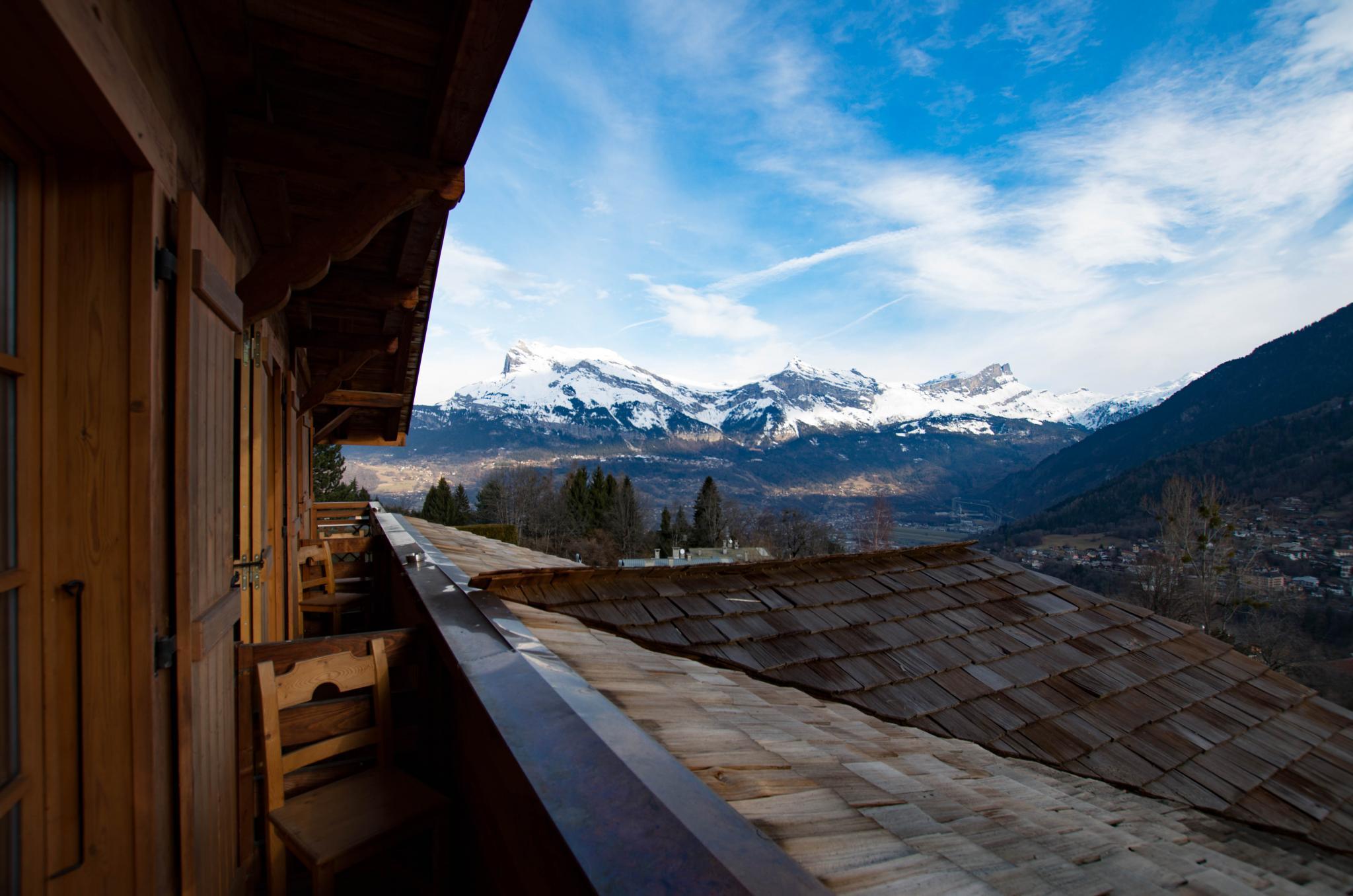 La ferme de Cupelin à Saint-Gervais-Les-Bains : chambre premium avec vue sur le Mont-Blanc